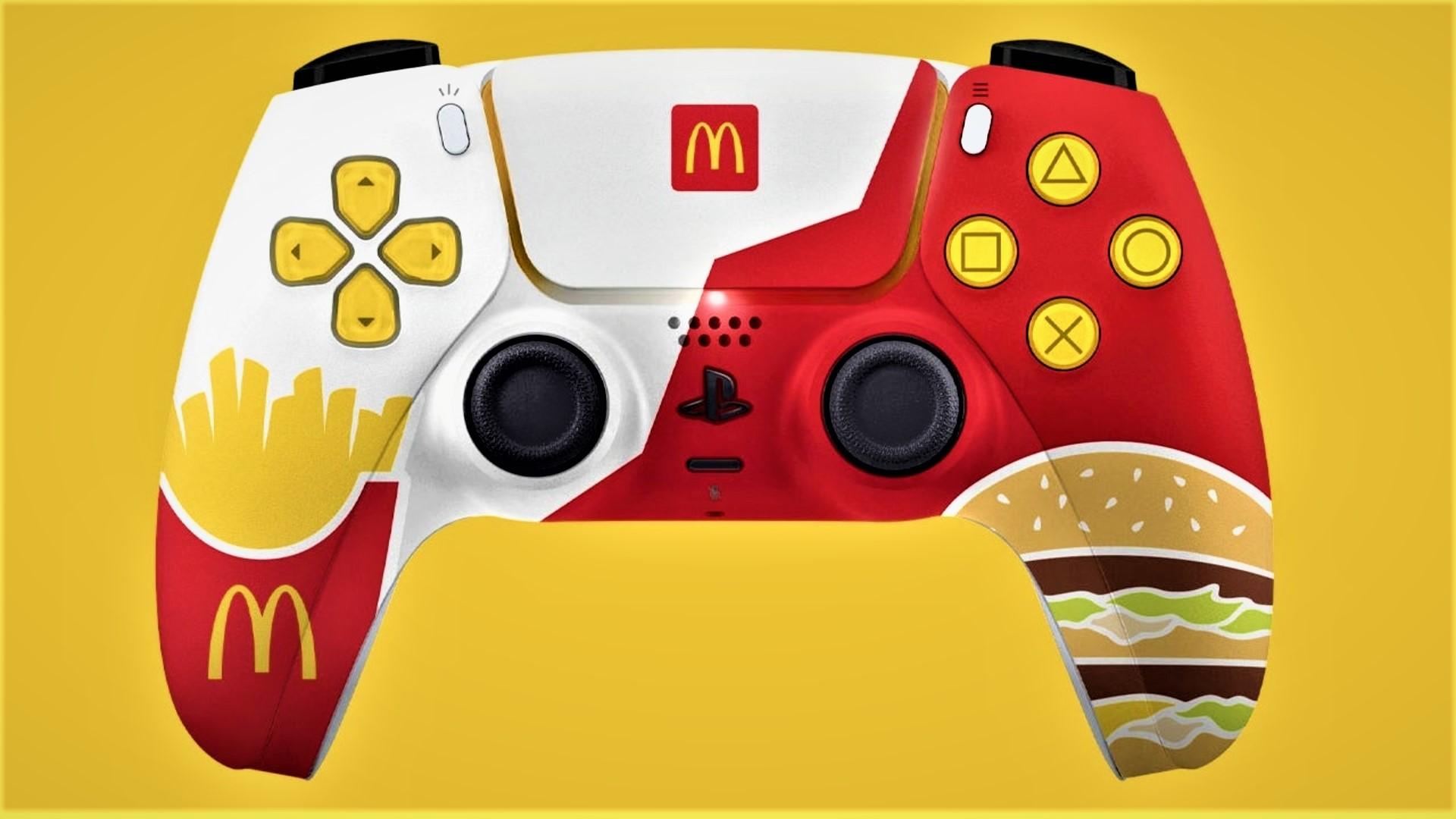 Ovládač k PlayStation 5 od McDonald's.