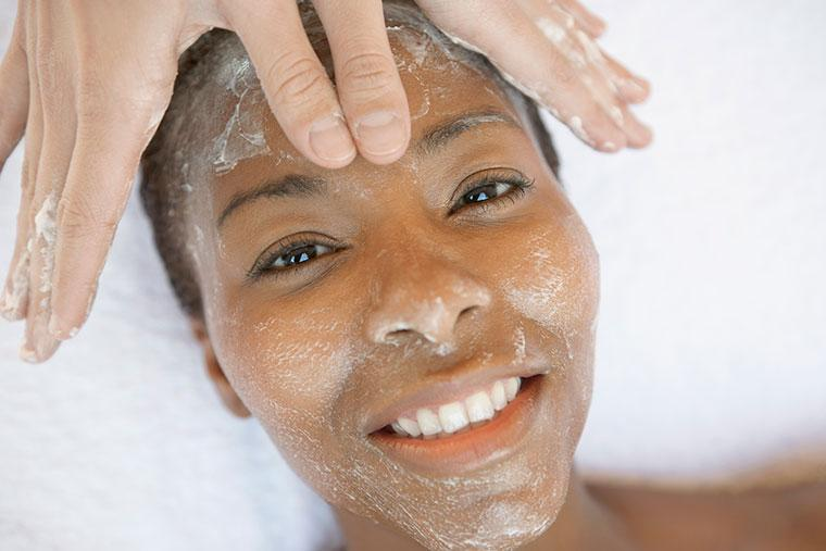 It's very important to exfoliate with a facial scrub [Well+ Good]