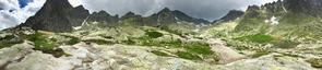 Panorama Doliny Pięciu Stawów Spiskich