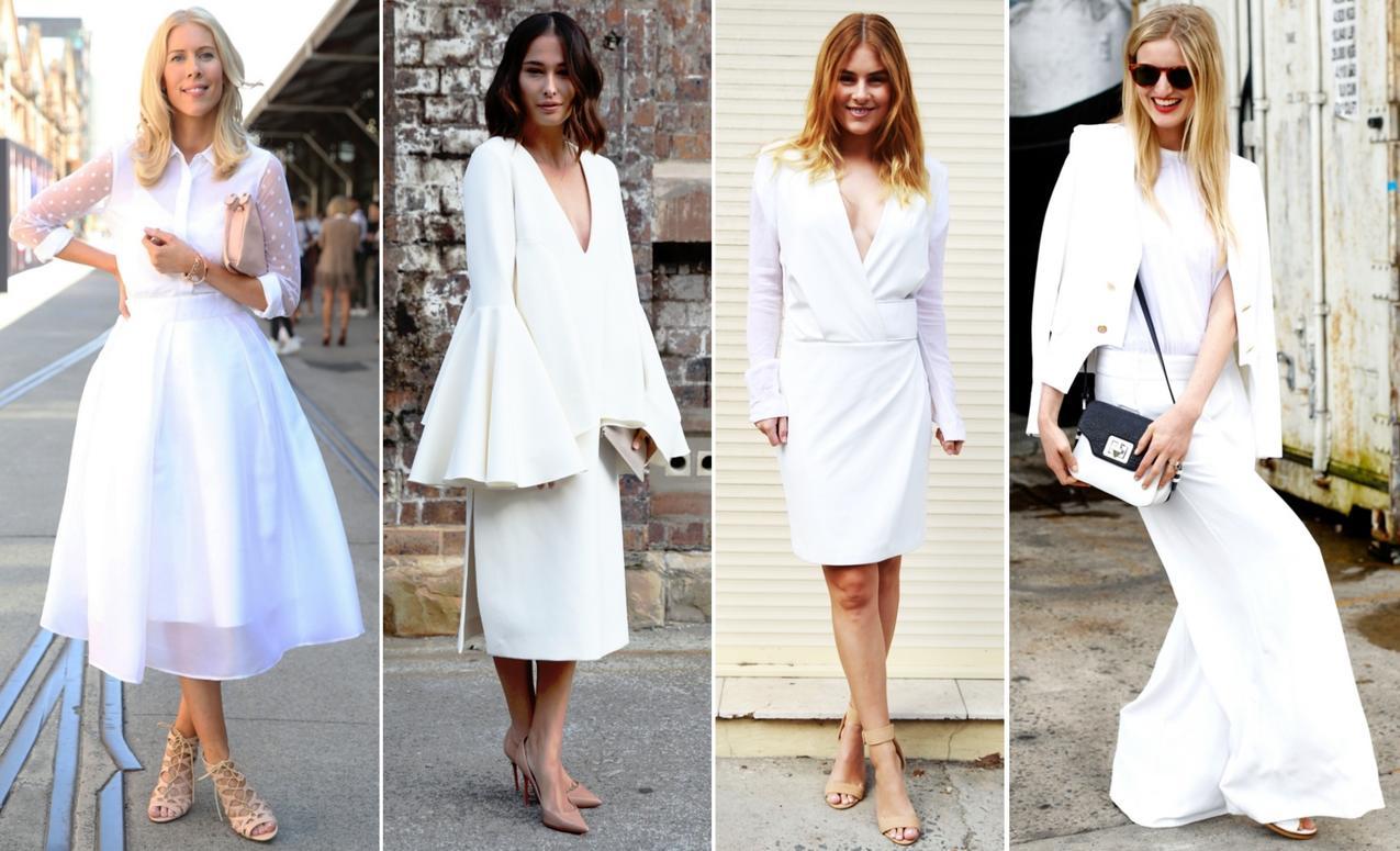 Biała sukienka,białe spodnie,białe koszule