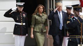 Melania Trump w militarnej kreacji na oficjalnym spotkaniu. Znów udowodniła, że na modzie to się zna!