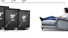Telewizor o dwumetrowej  przekątnej