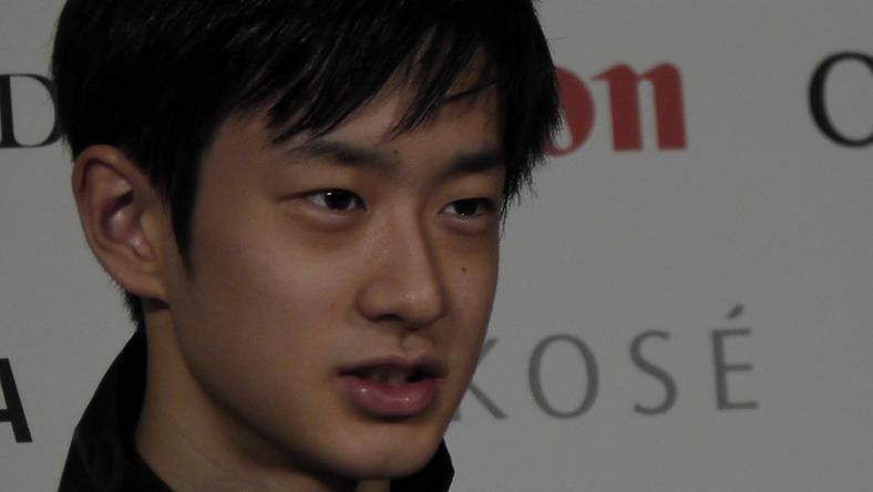 Sota Yamamoto a bokáját törte / Fotó: debreceni műkorcsolya és jégtánc világbajnokság sajtó