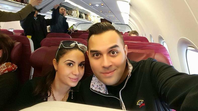 Bódi Csabi repülőről üzen rajongóinak/ foto: Facebook post