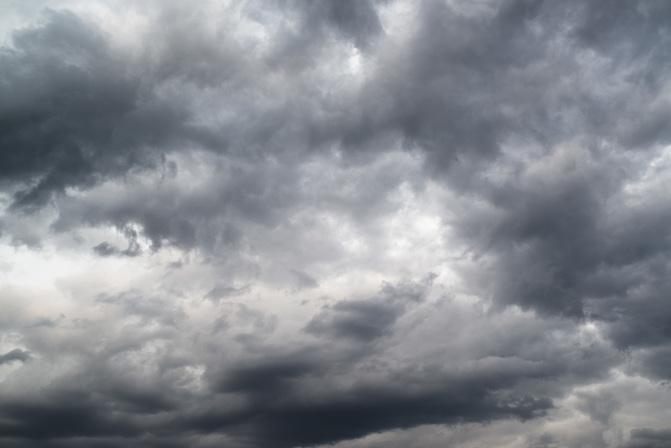 az esti látás felhős