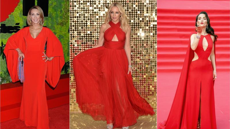 Gwiazdy kochają czerwone sukienki