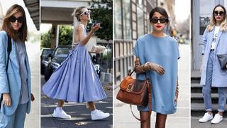 Moda w kolorze baby blue