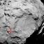 Miejsce lądowania - pierwszego kontaktu z powierzchnią komety