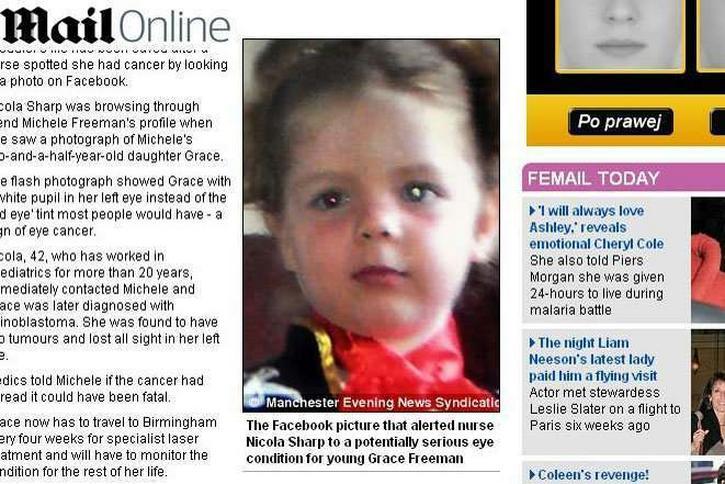 Zdjęcie na facebooku uratował dziewczynkę. Miała raka