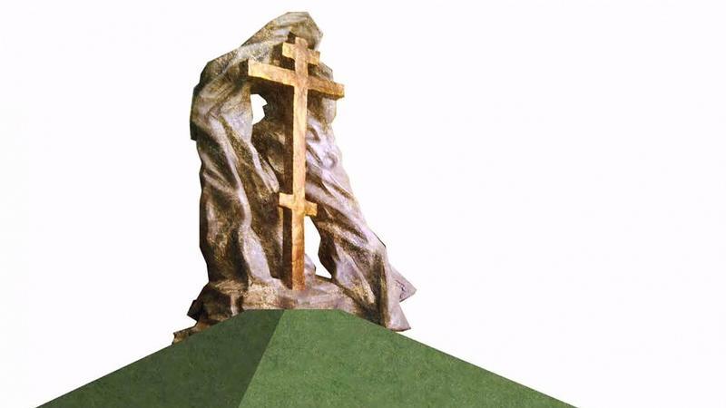 Wizualizacja pomnika, który miałby stanąć w Krakowie