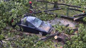 Strażacy usuwają skutki burz, które przeszły przez Polskę