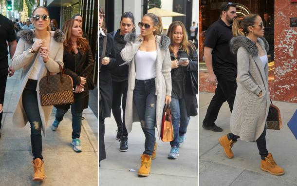 Best Look: Jennifer Lopez w butach Timberland