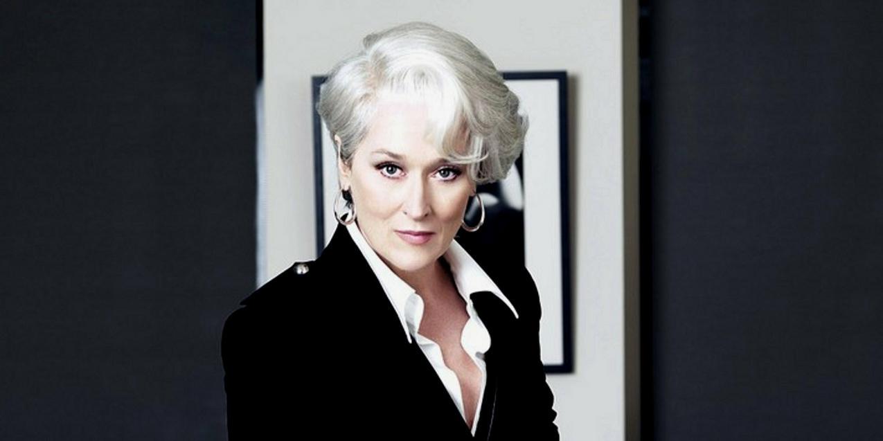"""Meryl Streep w filmie """"Diabeł ubiera się u Prady"""""""
