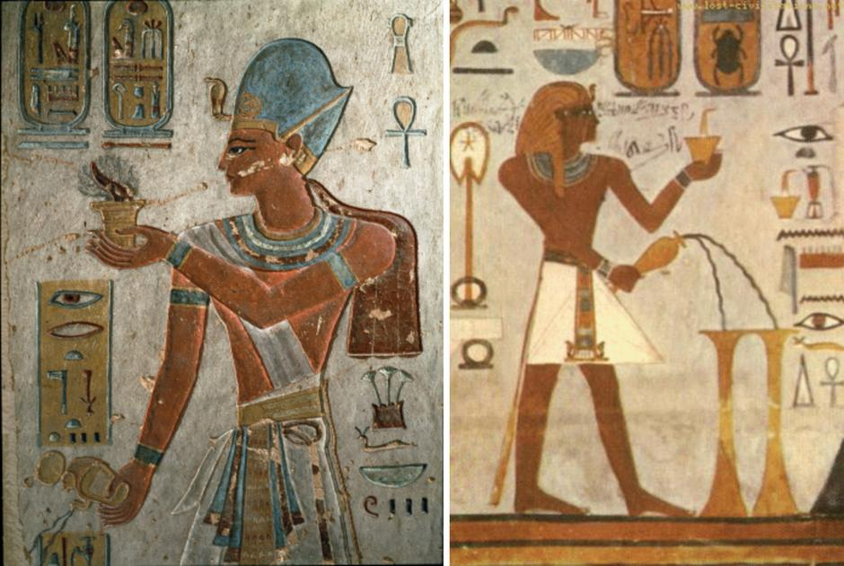 Malarstwo z piramid: Palenie kadzidła w starożytnym Egipcie