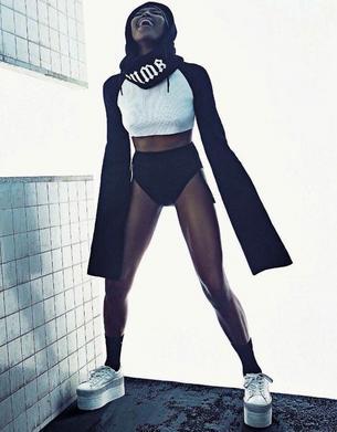 Ikona modelingu w projektach Rihanny