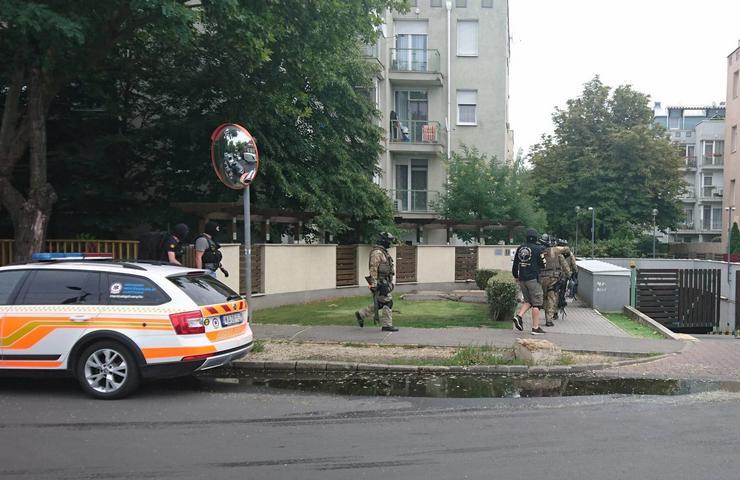 Kommandósok a XVIII. kerületben / Fotó: Blikk