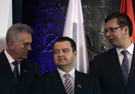 Tomislav Nikolić, Ivica dačić i Aleksandar Vučić
