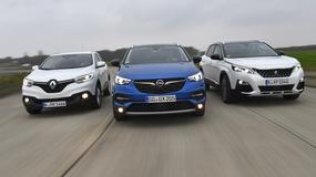 Opel Grandland X kontra Peugeot 3008 i Renault Kadjar - przepis na SUV-a po francusku