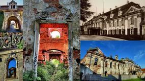 Zrujnowany pałac w Goszczu pod Twardogórą, rezydencja Reichenbachów