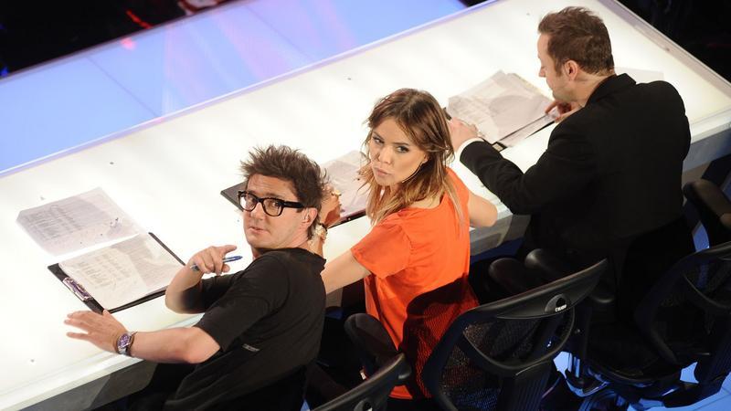 """Jury """"X Factor"""" w składzie: Kuba Wojewódzki, Maja Sablewska i Czesław Mozil (fot. mwmedia)"""