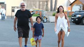 Briatore z młodszą żoną wypoczywa w Saint-Tropez