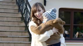 Gwiazdy z dziećmi na zimowym pokazie mody