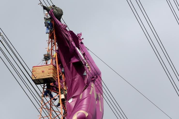 65 méter magasban ragadtak az emberek /Fotó: Northfoto