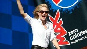 Sharon Stone na wyścigach NASCAR