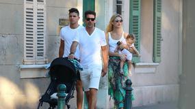 Diego Simeone z rodziną na wakacjach