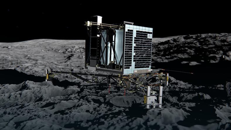 L & # x105; downik Philae discover & # x142; on a comet atoms in the & # x119; Coal