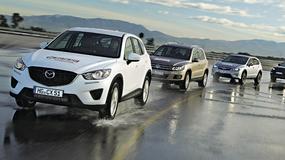 Porównanie kompaktowych SUV-ów: Mazda CX-5 kontra Volkswagen Tiguan, Subaru XV i Range Rover Evoque