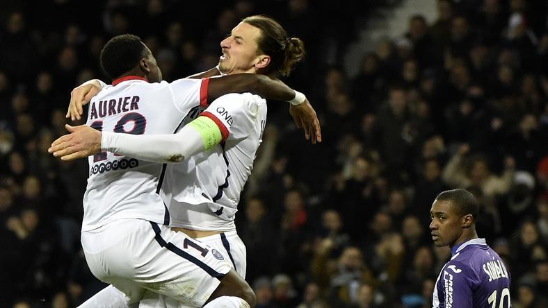 Aurier (balra) beszólt Ibrahimovicnak / Fotó: AFP