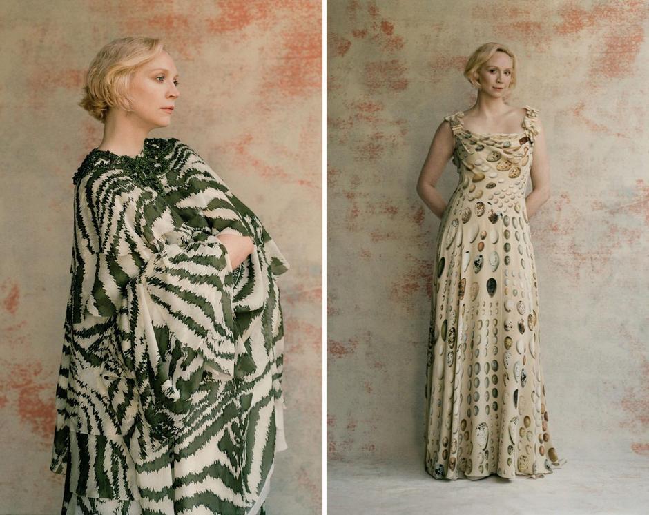 Gwendoline w sukienkach z kolekcji Giles Deacone Couture / fot. Charlotte Hadden