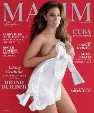 "Ashley Graham gwiazdą magazynu ""Maxim"""
