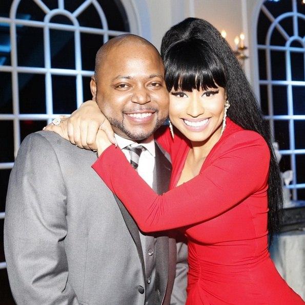 Nicki Minaj with brother Jelani Maraj