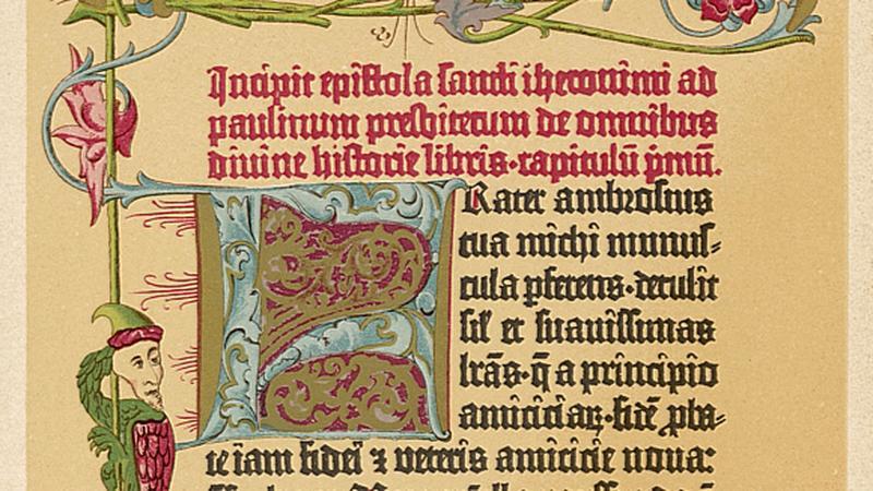42 strona z pierwszej Biblii Gutenberga