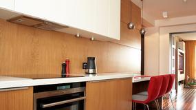 Kuchnia z nietypową ścianą