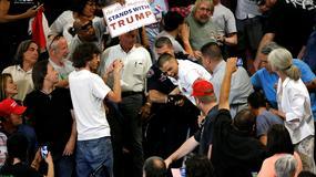 Protesty na wiecu Donalda Trumpa