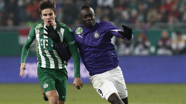 Diagne ősszel 11 gólt szerzett, a Fradi ellen is eredményes volt /Fotó: Fuszek Gábor