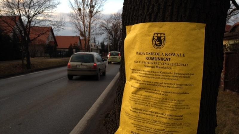 Protest mieszkańców Kowal i Swojczyc. Zablokują ulice