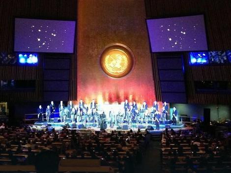 Viva Vox pevaju u glavnoj sali Generalne skupštine