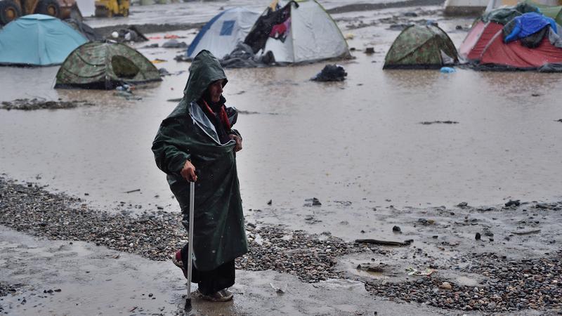 Menekülttábor / Fotó:AFP