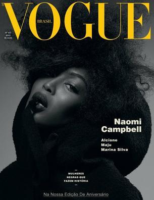 """Naomi Campbell na trzech okładkach brazylijskiego Vogue'a"""""""