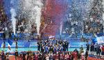 PESMA DO NEBA Ovako su naši odbojkaši slavili istorijsku titulu u Svetskoj ligi /VIDEO/