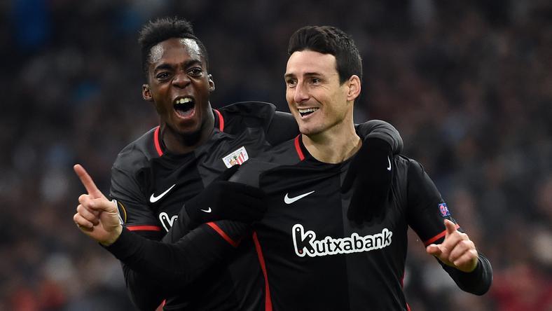 Aduriz óriási gólt szerzett a Marseille ellen / Fotó: AFP