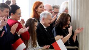 """Jarosław Kaczyński na koncercie zespołu """"Mazowsze"""" w Sejmie"""