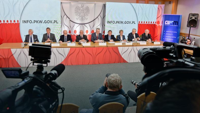 PKW podczas ogłoszenia oficjalnych wyników wyborów samorządowych