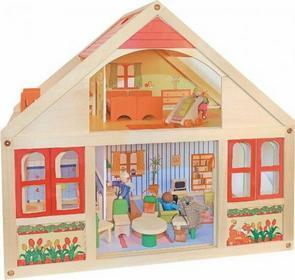 Woodyland Dom dla Lalek Veronika+mebelki 90813