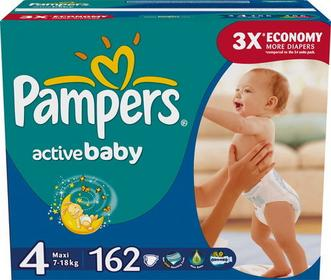 Pampers Active Baby Dry 4 Maxi 162 szt.