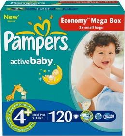 Pampers Active Baby 4+ Maxi Plus 120 szt.
